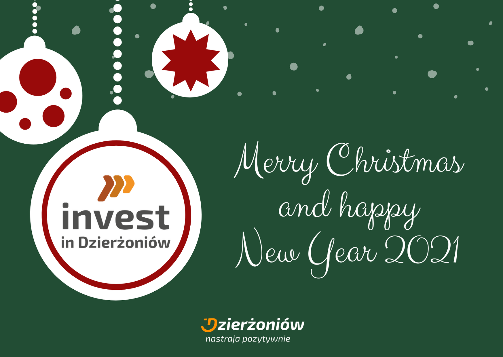A healthy and peaceful Christmas. Prosperity and success in the New Year.